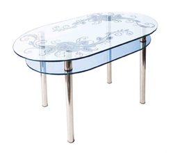 Стол КС-6 стекло (пескоструй)