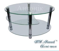 Стол журнальный СТ-404 прозрачное стекло