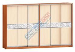 Шкаф-купе Софт 6Д ЛДСП+вставка зеркало с рисунком