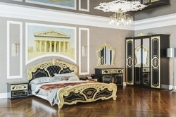 Спальня Кармен новая люкс (черная-золото)