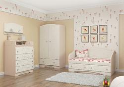 Детская комната Мишка МДФ ваниль