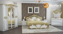 Спальня Ева (белый глянец-золото)
