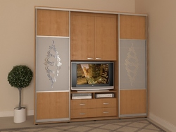 Шкаф-купе с ТВ витриной ШТВ-1