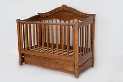 Детская кроватка Вива Виктория+ящик орех