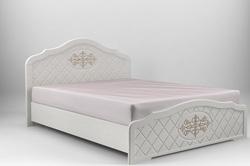 Кровать Лючия белый супермат