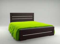 Кровать Соломия темная