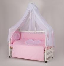 """Набор  постельного белья  """"Мамина Ласка Ажур """" (Премиум) розовое сердечко"""