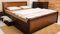 Кровать Сити М с ящиками и интарсией
