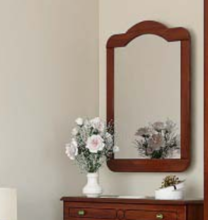 Зеркало Каролина орех/вишня