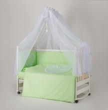 """Набор  постельного белья  """"Мамина Ласка Ажур """" (Премиум) зелёное сердечко"""
