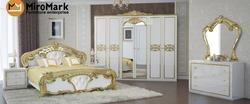 Спальня Ева (белый глянец-золото) 2