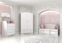 Детская комната Мишка МДФ белый