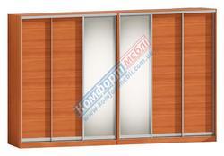 Шкаф-купе Софт 6Д зеркало + ЛДСП