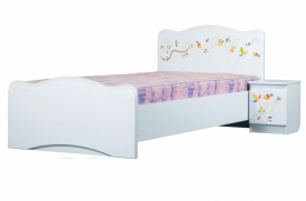 Кровать Цветы жизни белая