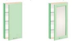 Шкаф навесной в ванную комнату Ф 4907/4908/4909/4910
