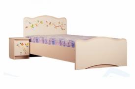 Кровать Цветы жизни ваниль