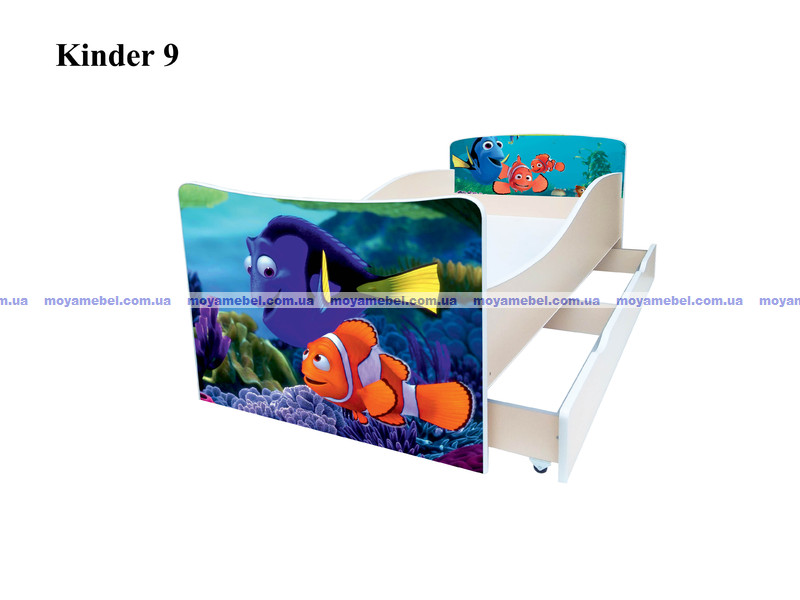 4ade10f10037fa Дитяче ліжко Немо (Кіндер 9) меблевої фабрики Viorina-deko з фото і ...