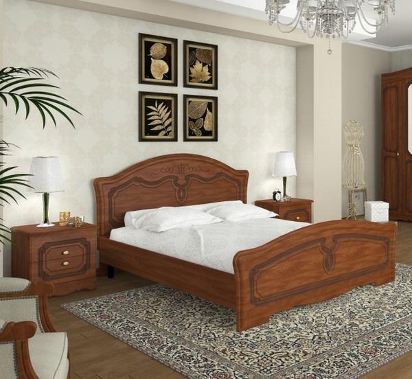 Кровать Николь яблоня ОД