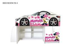 Детская кровать-комната №4 (девочка)
