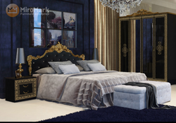 Кровать Дженифер Глянец черный