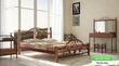 Кровать на деревянных ножках Жозефина