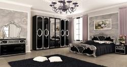 Спальня Реджина (черный глянец-серебро)2