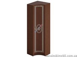 Шкаф угловой вогнутый Ф-4581 (Спальня Инкрустация)