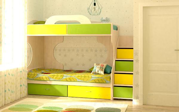 Кровать Дори Лайм двухъярусная