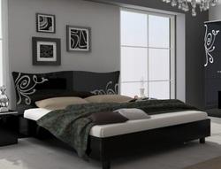 Кровать Богема (черный глянец)