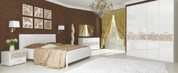 Спальня Флора (белый глянец)