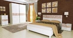 Спальня Флора (белый глянец)3