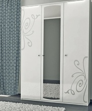 Шкаф Богема (белый глянец) 4Д без зеркал Акция