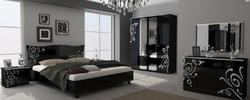 Спальня Богема (черный глянец)