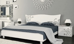 Кровать Богема (белый глянец)
