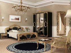 Спальня Реджина (черный глянец-золото)