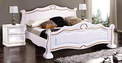 Кровать Каприз белая с патиной