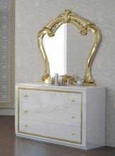 Комод Ева (белый глянец-золото)