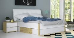 Кровать Флоренция белый глянец/сан марино