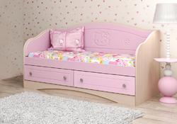 Кровать-диван Kiddy розовая