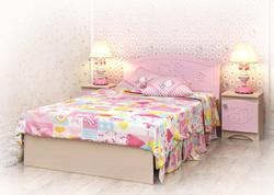 Кровать Kiddy розовая