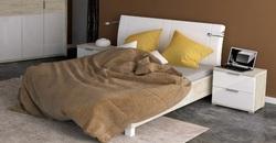 Кровать Верона белый глянец-сан марино