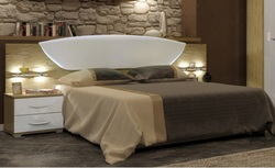 Кровать Миллениум белый глянец/сан марино