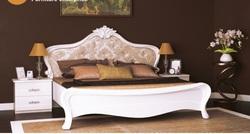 Кровать Прованс белый глянец