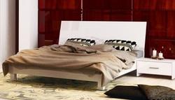 Кровать Рома белый глянец