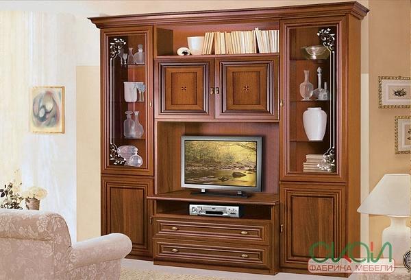 Стенка Капри витрина TV