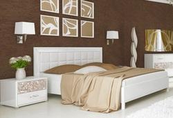 Кровать Флора (белый глянец) (О) 200х180