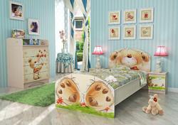 Детская комната Мишка с букетом