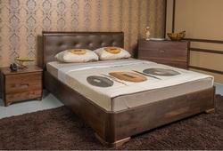 Кровать Милена с мягкой спинкой (квадраты)
