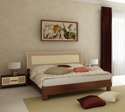 Кровать Виола (ваниль-вишня бюзум)