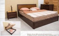 Кровать Сити с под. механизмом и интарсией